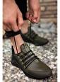 Riccon Siyah Siyah Cilt Erkek Sneaker 0012180 Haki